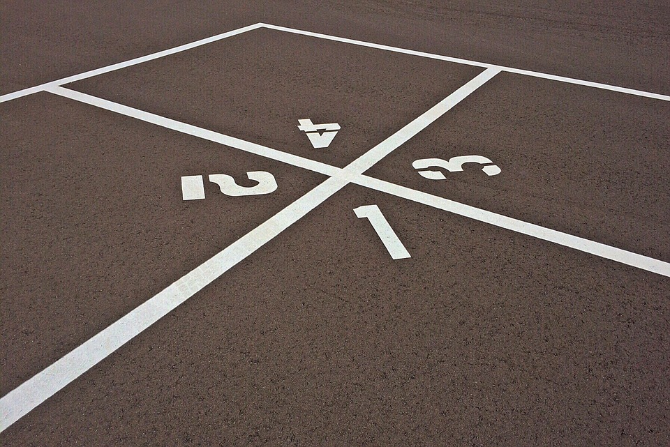 The Four Square game is a fun family activity that is easy to play. foursquare court