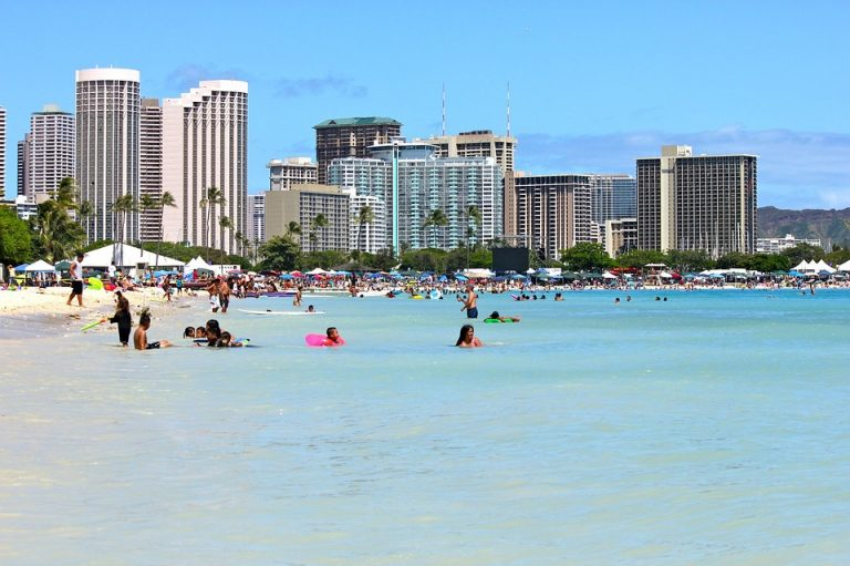 Honolulu Waikiki Sunny Travel Hawaii Oahu Beach