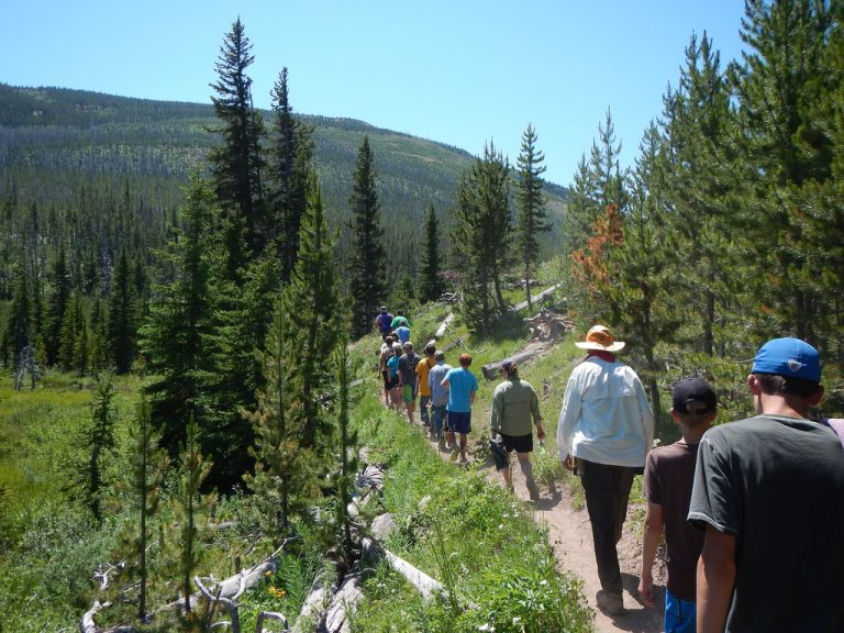 Family Hiking in the Scapegoat Wilderness