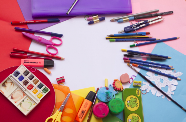drawing ideas for kids: painting and drawing tools set