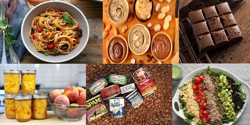 variety of Nonperishable Foods
