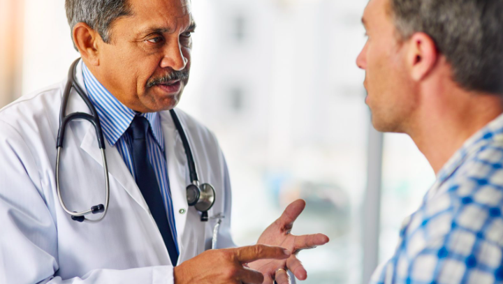 man consulting a doctor