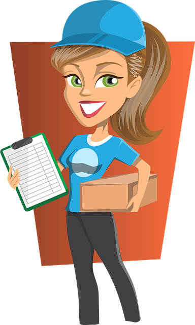 graphics illustration of a courier delivering the kiwico box