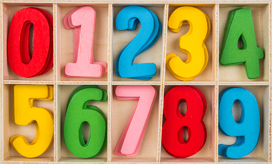 Colorful wooden Number Set